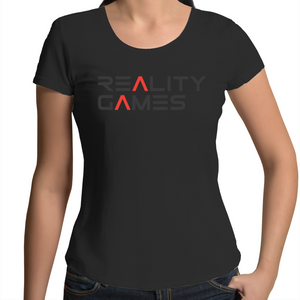 Reality Games AS Colour Mali - Womens Scoop Neck T-Shirt (Text Logo) - Reality Games Australia