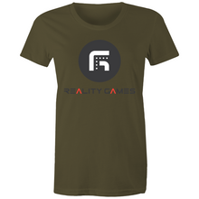 Load image into Gallery viewer, Reality Games AS Colour - Women's Maple Tee (Large Logo) - Reality Games Australia