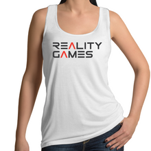 Load image into Gallery viewer, Reality Games AS Colour Tulip - Womens Singlet (Limited Logo) - Reality Games Australia