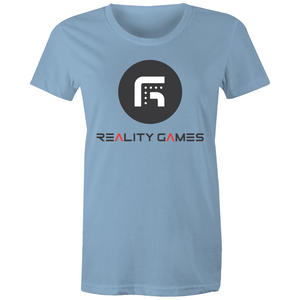Reality Games AS Colour - Women's Maple Tee (Large Logo) - Reality Games Australia