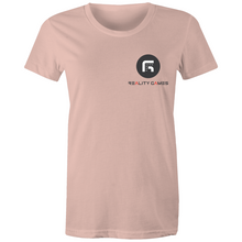 Load image into Gallery viewer, Reality Games AS Colour - Women's Maple Tee (Small Logo) - Reality Games Australia