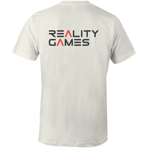 Reality Games AS Colour Organic Tee (Large Logo) - Reality Games Australia