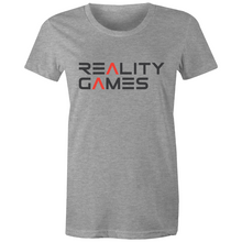 Load image into Gallery viewer, Reality Games AS Colour - Women's Maple Tee (Text Logo) - Reality Games Australia