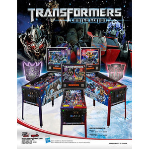 Transformers Limited Edition Combo Pinball Machine - Reality Games Australia