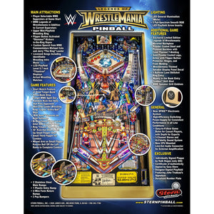 Legends of Wrestlemania Limited Edition Pinball Machine - Reality Games Australia
