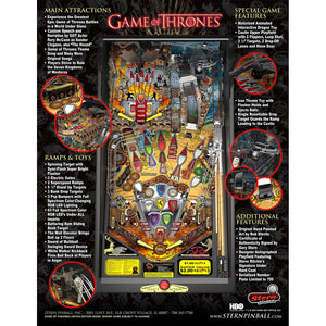 Game of Thrones Limited Edition Pinball Machine - Reality Games Australia