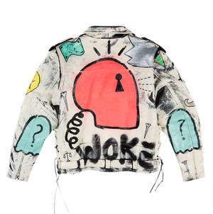 ICON WHITE LEATHER JACKET - Real Buy