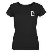 Vorderseite Music Is Life T-Shirt für Damen in Schwarz