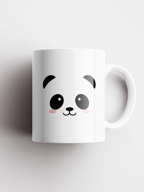 Panda Cute Face Printed Ceramic Coffee and Tea Mug 325 ml