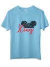 King Queen Blue Couple T-Shirts