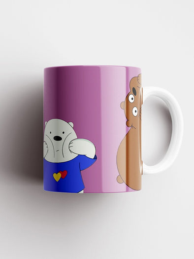 We Bare Bears Cute Official Printed Ceramic Coffee and Tea Mug 325 ml