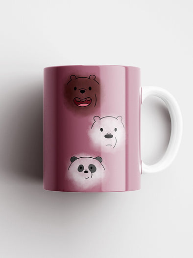 We Bare Bears Cute Face Official Printed Ceramic Coffee and Tea Mug 325 ml