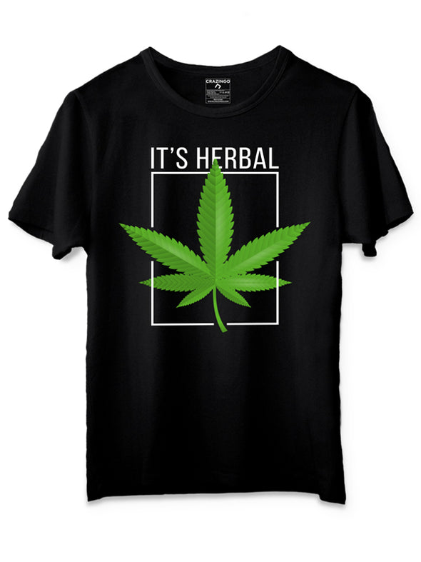 It's Herbal Black graphic T-Shirts