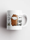 We Bare Bears Mask Sipper Official Printed Ceramic Coffee and Tea Mug 325 ml