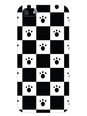 Paw Checkers Mobile Cover for iPhone SE