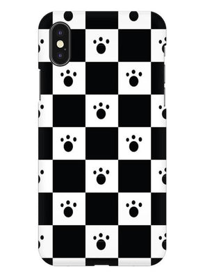 Paw Checkers Mobile Cover for iPhone X