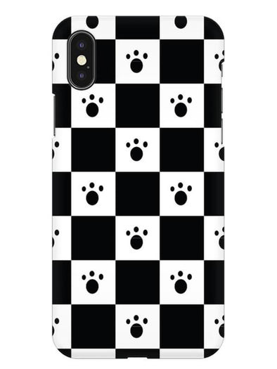 Paw Checkers Mobile Cover for iPhone XS