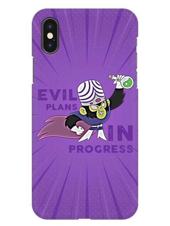 Evil Plan Mojojojo Mobile Cover for iPhone XS Max