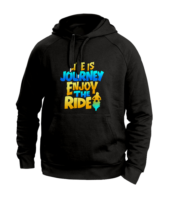 Life is a journey Black Hoodies