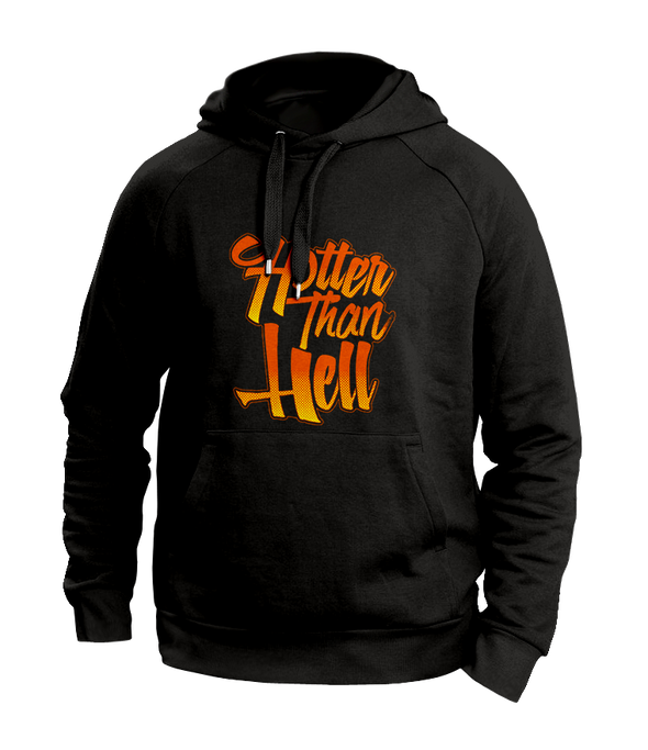 hotter than hell Black hoodies
