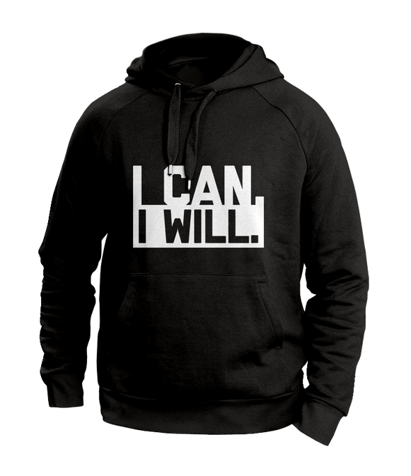 I can I will Black Hoodies