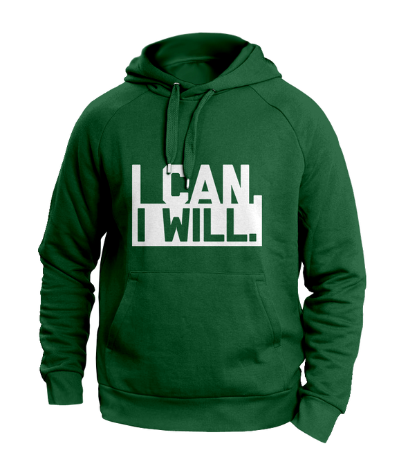 I can I will Green Hoodies