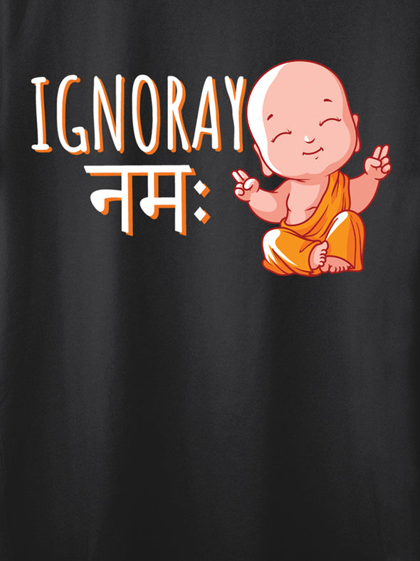 Ignoray Namah Black graphic T-Shirts