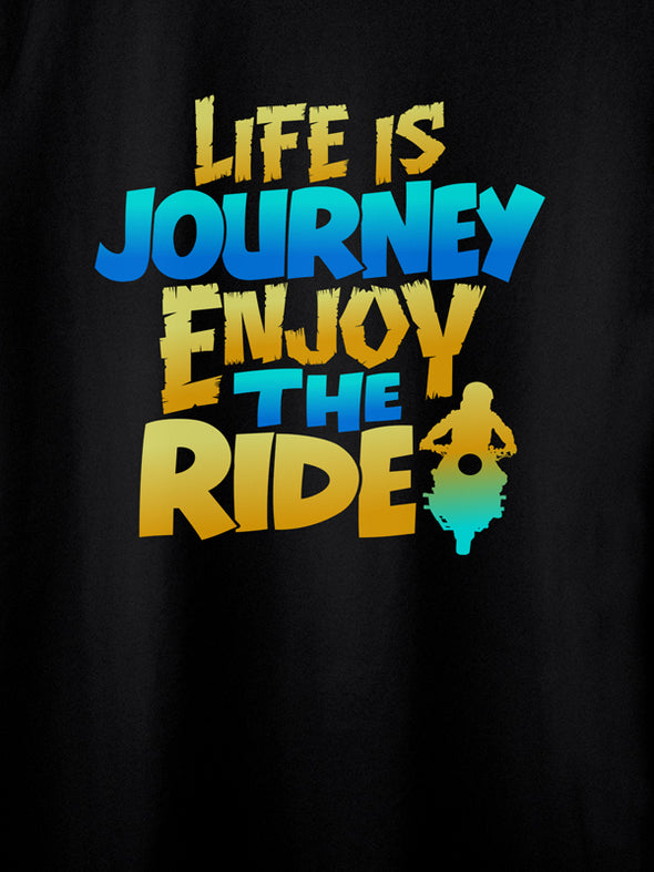 Life is a journey Black T-Shirts