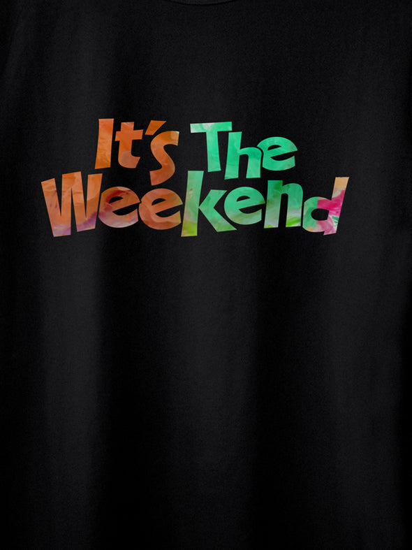 Weekend Black Graphic T-Shirts