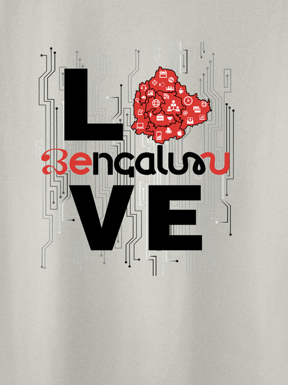 Love Bengaluru white T-Shirt