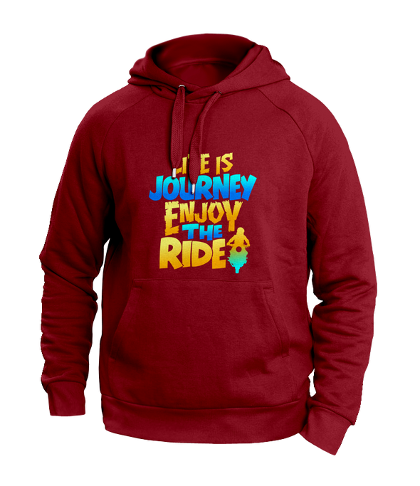 Life is a journey Maroon Hoodies