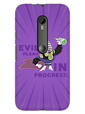 Evil Plan Mojojojo Mobile Cover for Moto G3