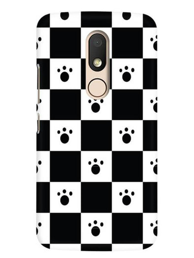 Paw Checkers Mobile Cover for Moto M