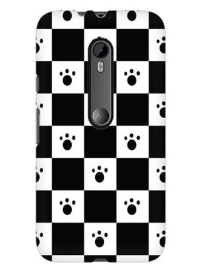 Paw Checkers Mobile Cover for Moto X Play