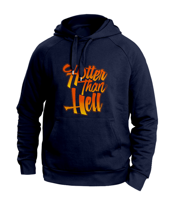 hotter than hell Blue hoodies