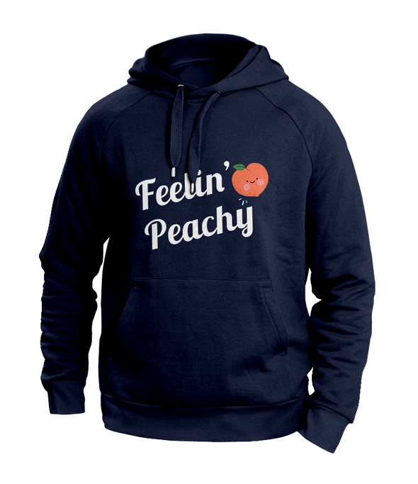Feeling Peachy Blue Hoodies