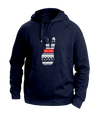 Peace navy blue Hoodies