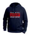 parental advisory navy hoodies