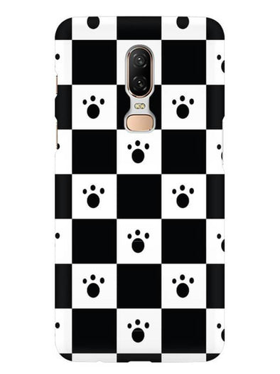 Paw Checkers Mobile Cover for OnePlus 6