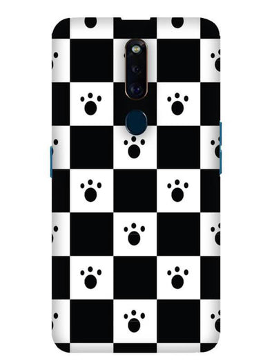 Paw Checkers Mobile Cover for Oppo F11 Pro
