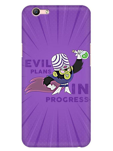 Evil Plan Mojojojo Mobile Cover for Oppo F1 S