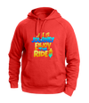 Life is a journey red Hoodies