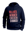 Chicken Dinner Blue Hoodies