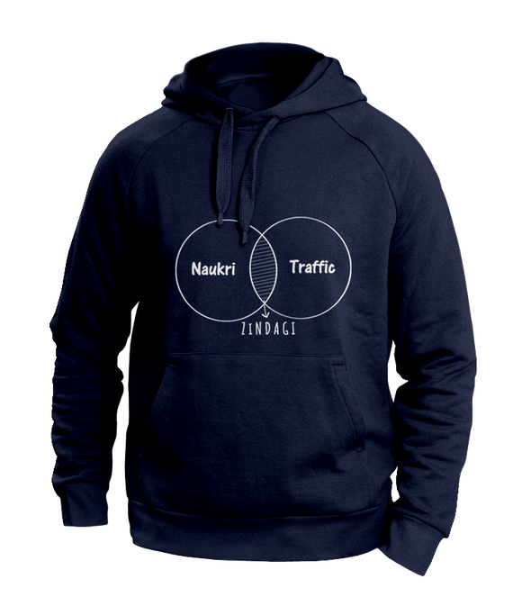 Naukri Blue Hoodies