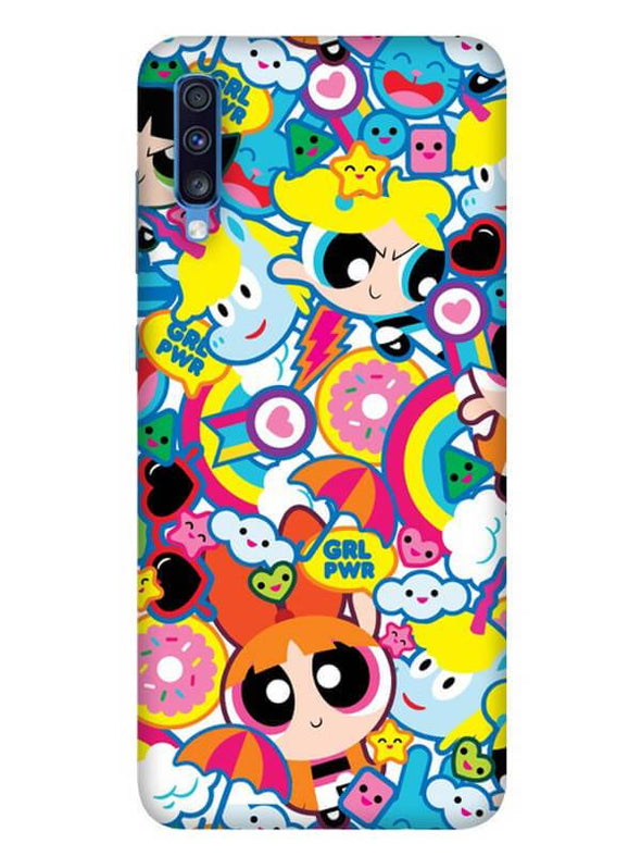 Girl Power Mobile Cover for Galaxy A70