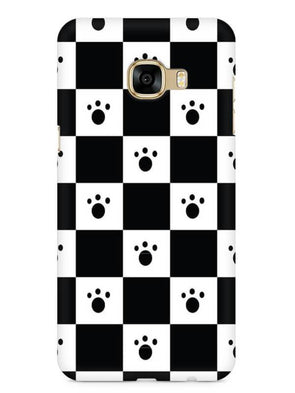 Paw Checkers Mobile Cover for Galaxy C7 Pro