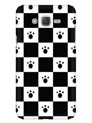 Paw Checkers Mobile Cover for Galaxy J5