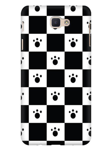 Paw Checkers Mobile Cover for Galaxy J5 Prime