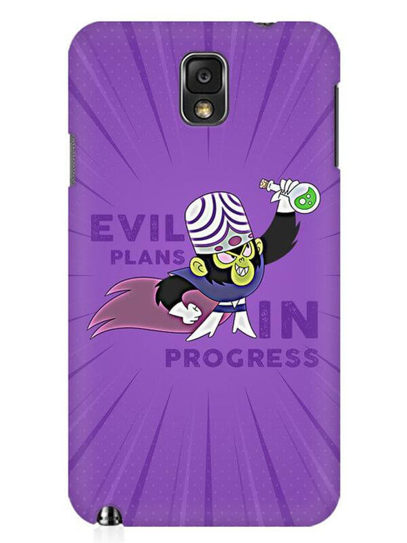 Evil Plan Mojojojo Mobile Cover for Samsung Note 3