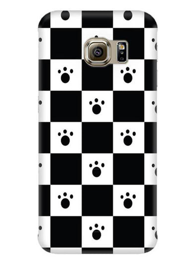 Paw Checkers Mobile Cover for Galaxy S6 Edge